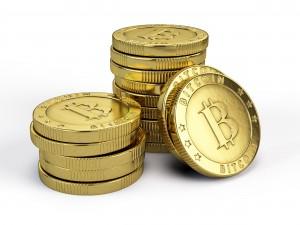 bitcoins pile