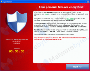 cryptolocker screenshot sample
