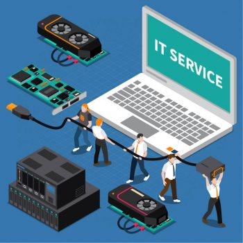 IT-services-graphic-IT-technicians-help-to-set-IT-devices-IT-services-for-small-to-medium-business